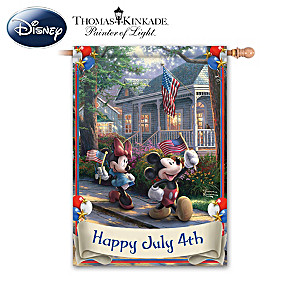 Disney Independence Day Flag With Thomas Kinkade Art
