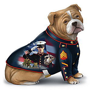 USMC Devil Dog Figurine With James Griffin Marine Art