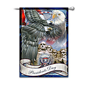 Presidents Day Decorative Flag By Jody Bergsma