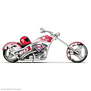 Phillies Home Run Racer Motorcycle Figurine