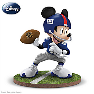 "Mickey Mouse New York Giants ""Quarterback Hero"" Figurine"