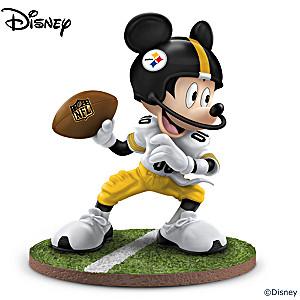 "Mickey Mouse Pittsburgh Steelers ""Quarterback Hero"" Figurine"