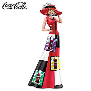 """Coca-Cola Woman Figurine In 1960s """"Pop Art"""" Fashions"""