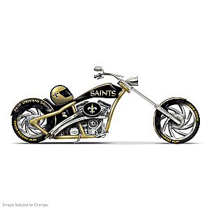 New Orleans Saints Chopper Figurine With Team Logos