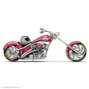 Ohio State University Buckeyes Motorcycle Figurine