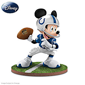 "Mickey Mouse Indianapolis Colts ""Quarterback Hero"" Figurine"