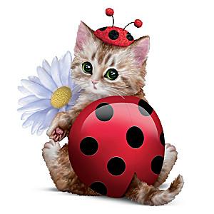 Cat Ladybug Figurine From Artist Kayomi Harai