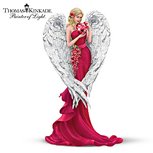 Thomas Kinkade Angel Figurine Supports Women's Heart Health