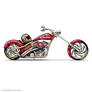 San Francisco 49ers Chopper With Official Logos And Colors
