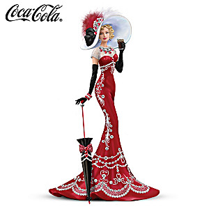 COCA-COLA Elegant Lady Figurine With Swarovski Crystals