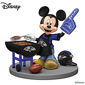 Mickey Mouse Baltimore Ravens Tailgating Figurine