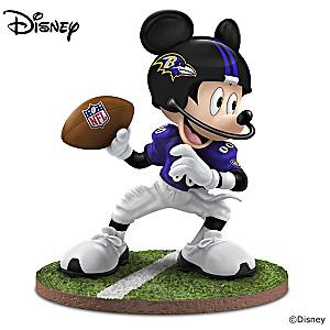 "Mickey Mouse Baltimore Ravens ""Quarterback Hero"" Figurine"