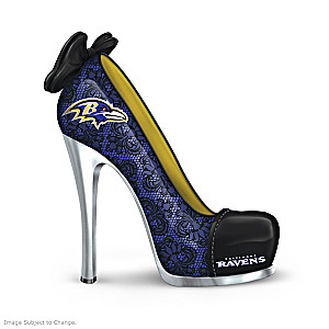 NFL-Licensed Baltimore Ravens High Heel Shoe Figurine