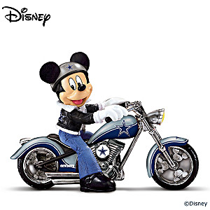 """Mickey Mouse Dallas Cowboys """"Headed For Victory"""" Figurine"""