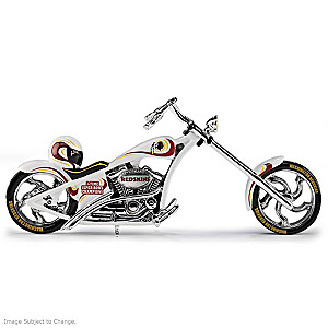 Washington Redskins Motorcycle Figurine With Official Logos
