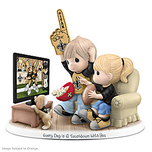 Precious Moments New Orleans Saints Fan Porcelain Figurine