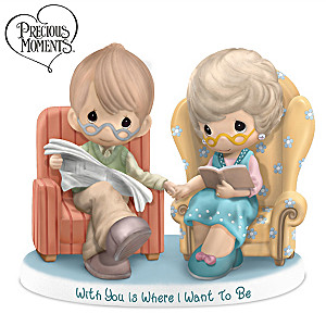 "Precious Moments ""With You Is Where I Want To Be"" Figurine"