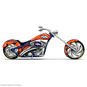 Denver Broncos Chopper With Official Logos And Colors