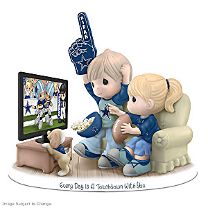 Precious Moments Dallas Cowboys Fan Porcelain Figurine