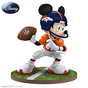 "Mickey Mouse Denver Broncos ""Quarterback Hero"" Figurine"