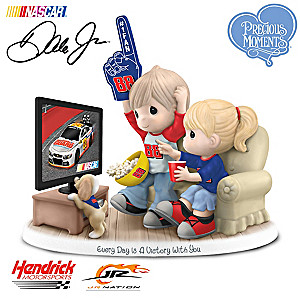 Precious Moments Dale Earnhardt Jr. Fan Porcelain Figurine