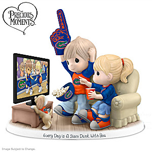 Precious Moments Florida Gators Fan Porcelain Figurine