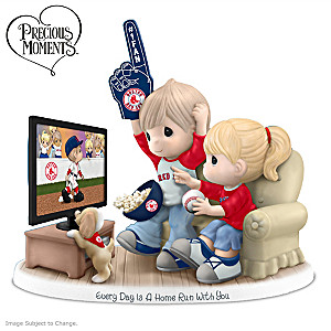 Precious Moments Boston Red Sox Fan Porcelain Figurine