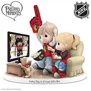 Precious Moments Blackhawks® Fan Porcelain Figurine
