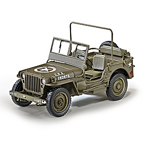 1:18-Scale 1/4-Ton U.S. Willys Jeep World War II Diecast
