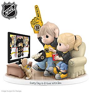 Precious Moments Boston Bruins® Fan Porcelain Figurine