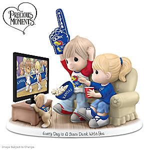 Precious Moments Kansas Jayhawks Fan Porcelain Figurine