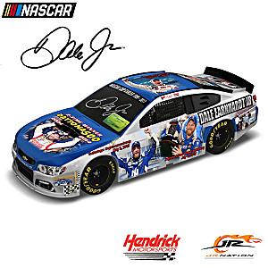 1:18-Scale Dale Jr. Autographed Collage Car Sculpture