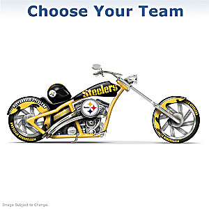 Choose Your NFL Team: Chopper Motorcycle Figurine