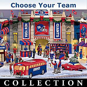 """Choose Your Team"" NFL Illuminated Christmas Village"