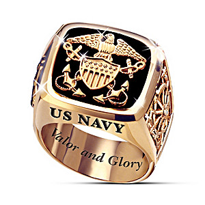 "U.S. Navy ""Valor And Glory"" Men's Ring"