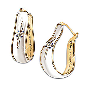 """My Blessed Daughter"" Sapphire And Diamond Earrings"