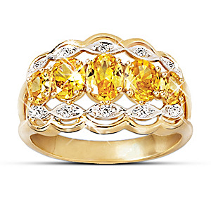 """""""Dazzling Fire"""" Sapphire And Diamond Ring"""