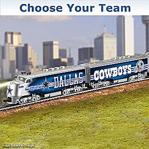 """Choose Your Team"" NFL Illuminated Electric Train"