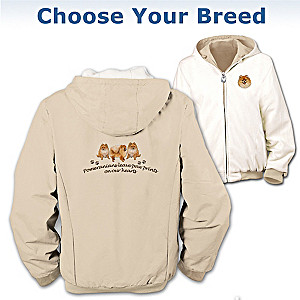 Reversible Fleece Dog Art Jacket: Choose A Dog Breed