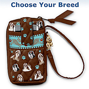 """Loving Companion"" Dog Art Wristlet: Choose Your Breed"