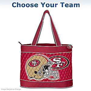 NFL Tote Bag With FREE Cosmetic Case