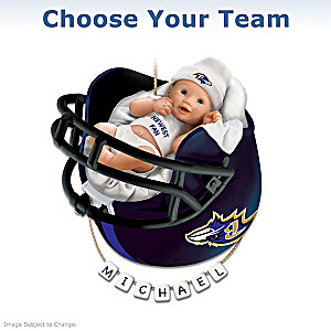 Choose From All 32 Teams: Personalized Christmas Ornament