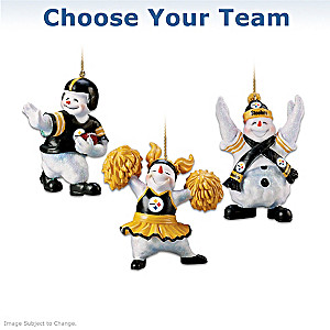 """Choose Your Team"" Officially Licensed NFL Snowman Ornaments"