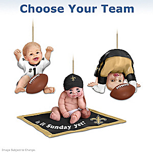 """Choose Your Team"" NFL Fan Baby Ornament Collection"