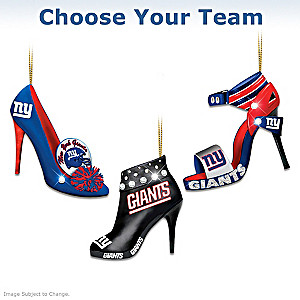 """Choose Your Team"" NFL High Heel Shoe Ornament Collection"