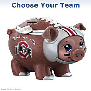 """Choose Your Team"" College Football Porcelain Piggy Bank"
