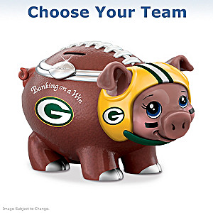 """Choose Your Team"" NFL Porcelain Piggy Bank"