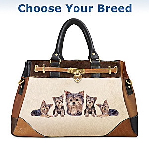 Fashion's Best Friend Dog Theme Satchel Handbag