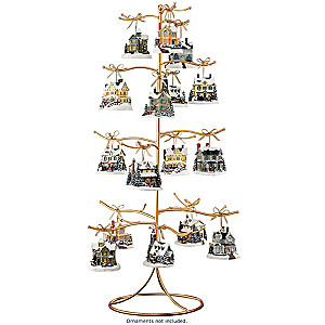 The Golden Tree 37-Position Ornament Display Stand