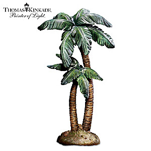 """The Wondrous Night"" Sculpted Palm Tree Nativity Accessory"